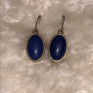 Lucky brand navy and gold earrings